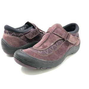 Privo Clarks Sneakers 7.5 Purple Suede Leather